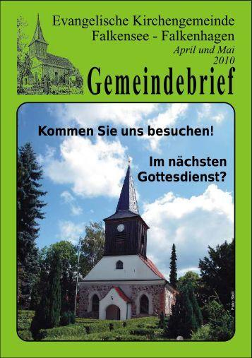 Gemeindebrief - Ev. Kirchengemeinde Falkensee-Falkenhagen