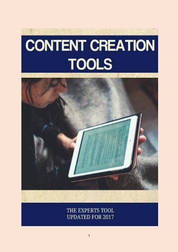 3 Content Creation Tools