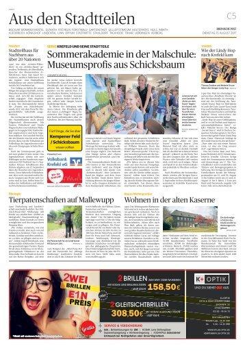 Stadtteilserie - Fünf Dinge, die Sie über Kempener Feld/Schicksbaum wissen sollten  -ET 15.08.2017-