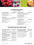 The Gathering Menu Fall 2017 - Page 4