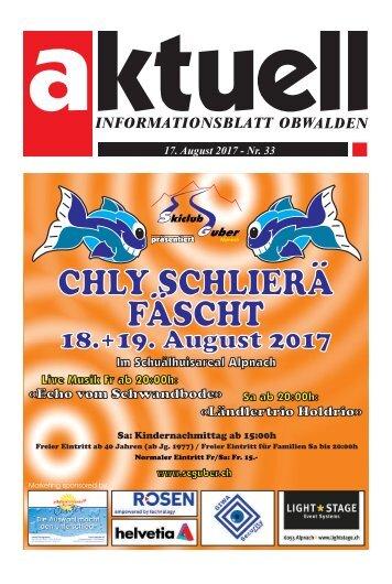 Aktuell Obwalden 33-2017