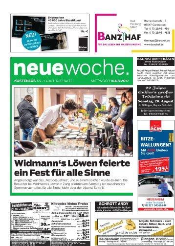 16.08.2017 Neue Woche