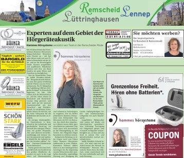Remscheid - Lennep - Lüttringhausen  -ET 18.08.2017-