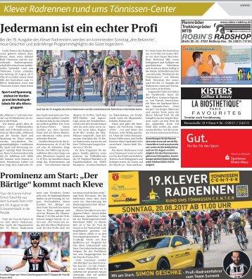 Klever Radrennen rund ums Tönnissen-Center  -ET 18.08.2017-
