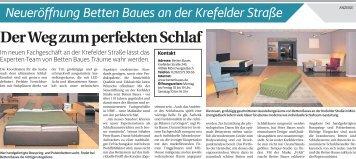 Neueröffnung Betten Baues an der Krefelder Straße  -ET 19.08.2017-