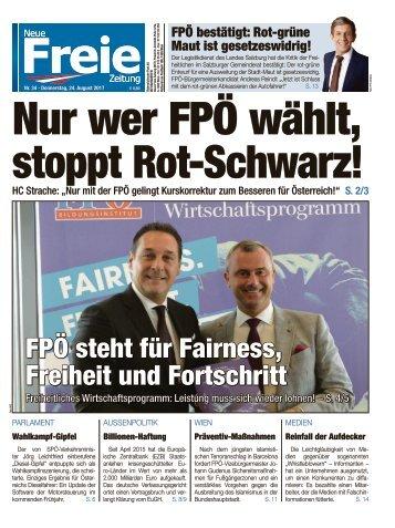 Nur wer FPÖ wählt, stoppt Rot-Schwarz!