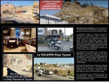 GIG Desarrollos Inmobiliarios La Rioja Tijuana violencia e inseguridad