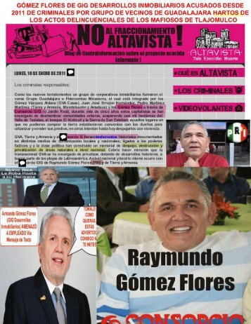 DOCUMENTADO EL ABUSO Y ACTOS DELINCUENCIALES DE LAS RATAS GOMEZ FLORES DE GIG DESARROLLOS INMOBILIARIOS CANCER DE MEXICO