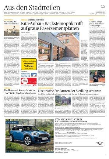 Stadtteilserie - Fünf Dinge, die Sie über Lindental/Tackheide wissen sollten  -ET 29.08.2017-