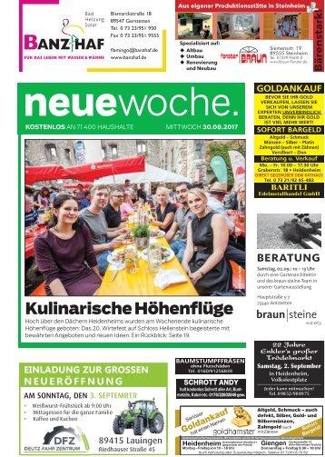 30.08.2017 Neue Woche