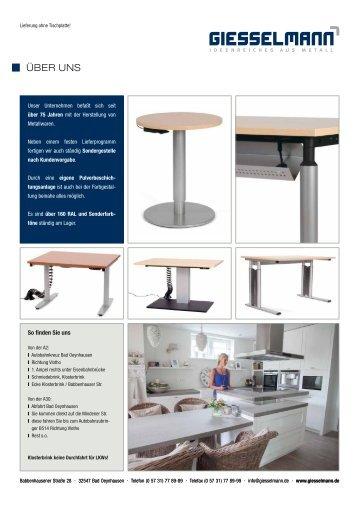 Giesselmann Tischgestelle