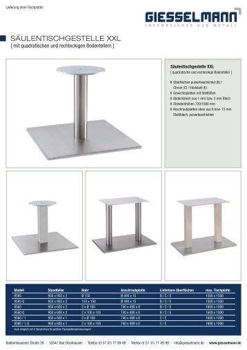 Giesselmann Säulengestelle