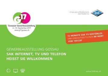 Gossauer Gewerbeausstellung G17 vom 6. bis 10. September 2017