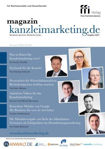 kanzleimarketing.de Ausgabe 03/2017