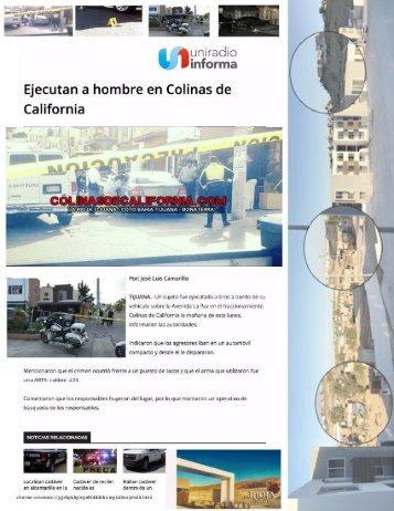Colinas de California Asesinato en Taquería a Plena Luz del Día, Vecino de La Rioja Residencial Tijuana es Acribillado a Metros de su Departamento