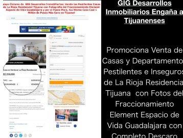 Fraude Inmobiliario en La Rioja Residencial Tijuana- Utilizan Fotos Falsas Para Promocionar Venta de Departamentos