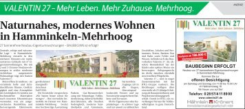 Valentin 27 - Mehr Leben. Mehr Zuhause. Mehrhoog.  -09.09.2017-