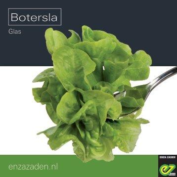Leaflet Botersla onder glas 2017