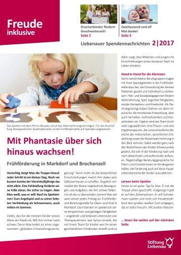 Liebenauer Spendennachrichten September 2017