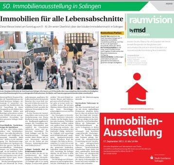 50. Immobilienausstellung in Solingen  -15.09.2017-