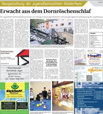 Neugestaltung der Jugendheimstätten Niederrhein 20.09.2017