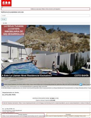 Departamento en Venta, Fraccionamiento La Rioja Residencial, Tijuana, Baja California ,070,000 MXN _ CasaCompara