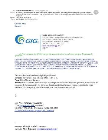 GIG Fomenta La Violencia Laboral - Atenta Contra los Derechos Basicos y Humanos de sus Trabajadores - GIG Tijuana La Rioja Residencial Delincuentes Impunes