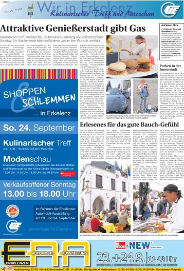 Wir in Erkelenz - verkaufsoffener Sonntag 24.9.2017