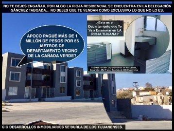 La Rioja Residencial Tijuana Departamentos en Venta en Narco Zona de Peligro