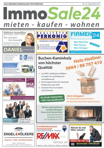 Immobilienmagazin Kärnten - Ausgabe September 2017