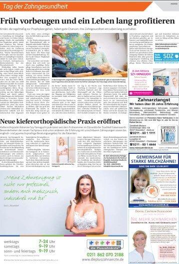 Tag der Zahngesundheit 25.09.2017 Düsseldorf