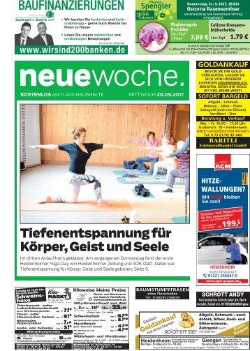20.09.2017 Neue Woche