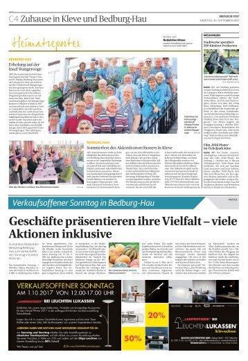 Verkaufsoffener Sonntag in Bedburg-Hau  -30.09.2017-