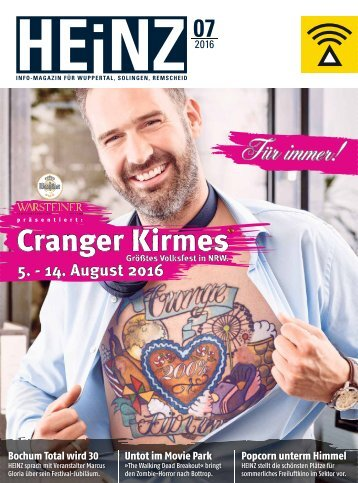 HEINZ Magazin Wuppertal 07-2016