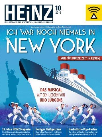 HEINZ Magazin Wuppertal 10-2016
