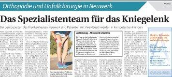 Orthopädie und Unfallchirurgie in Neuwerk  -07.10.2017-