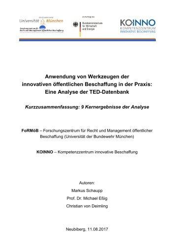 9 Kernergebnisse der_Analyse der TED-Datenbank