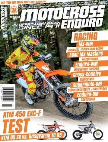 Motocross Enduro Ausgabe 11/2017