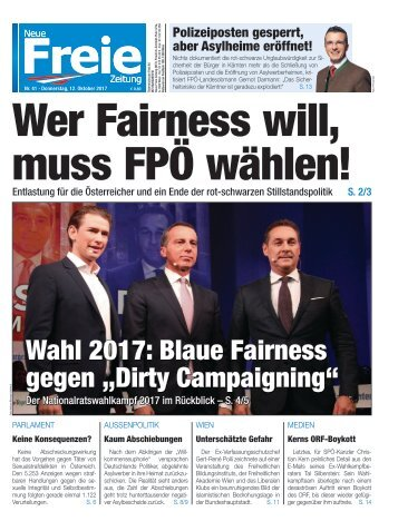 Wer Fairness will, muss FPÖ wählen!