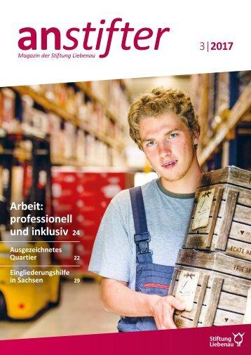 Anstifter 3, 2017 der Stiftung Liebenau