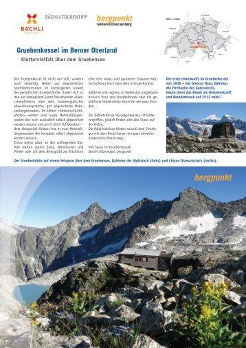 Tourentipp 10.2017 - Gruebenkessel im Berner Oberland