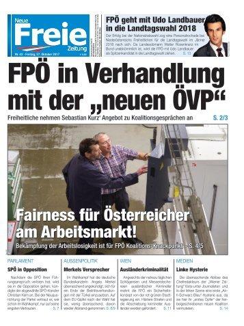 """FPÖ in Verhandlung mit der """"neuen ÖVP"""""""