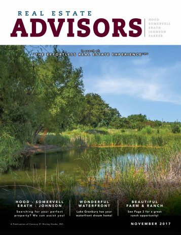 The Real Estate Advisors Magazine - November 2017