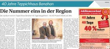 40 Jahre Teppichhaus Banahan  -04.11.2017-