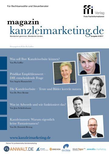 Magazin kanzleimarketing.de 04/2017