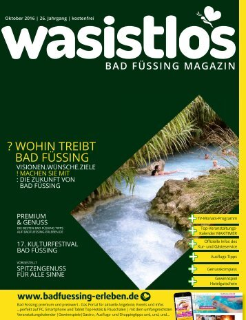 wasistlos Bad Füssing Magazin Oktober 2016