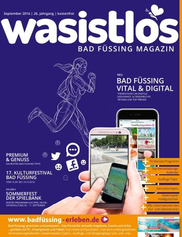 wasistlos Bad Füssing Magazin September 2016
