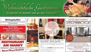 Weihnachtliche Gastronomie  -08.11.2017-
