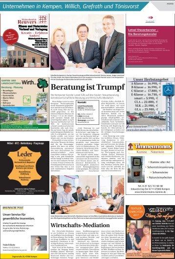 Unternehmen in Kempen, Willich, Grefrath und Tönisvorst  -08.11.2017-