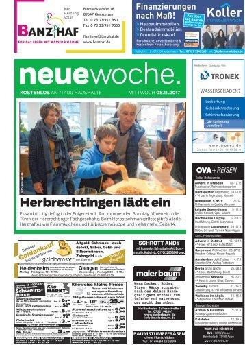 08.11.2017 Neue Woche